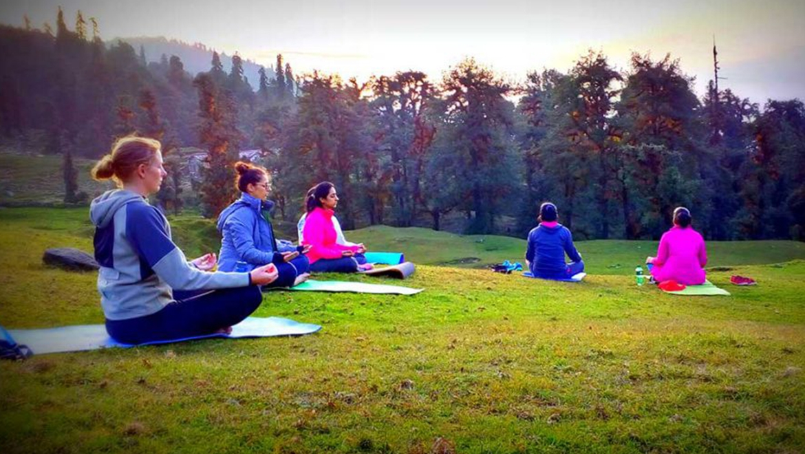 Yoga Vacation in pristine Himalayas can calm down mind