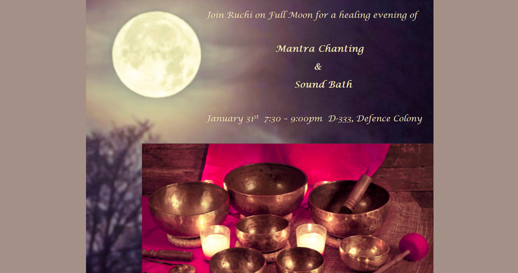 Mantra Chanting and Sound Bath – Full Moon Meditation