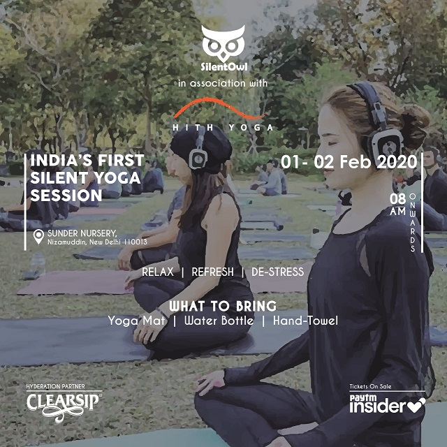 India's First Silent Yoga Session