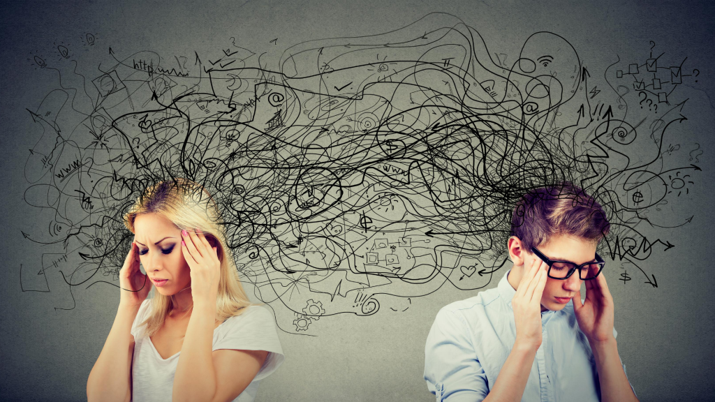 How do negative thoughts impact you physically and mentally?